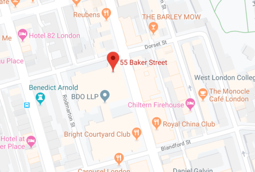 London Office Map